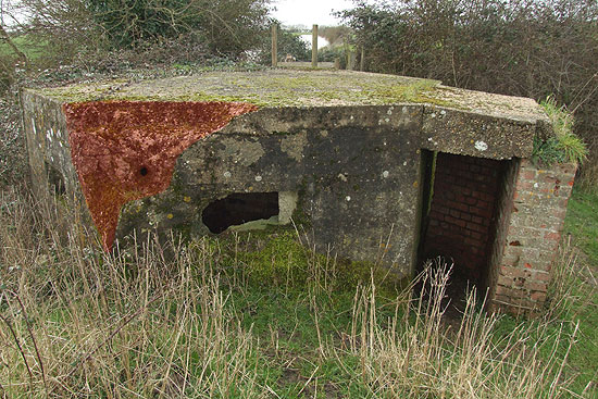 Damage to Type 22 Pillbox
