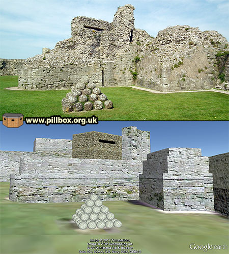 Pevensey Castle Model