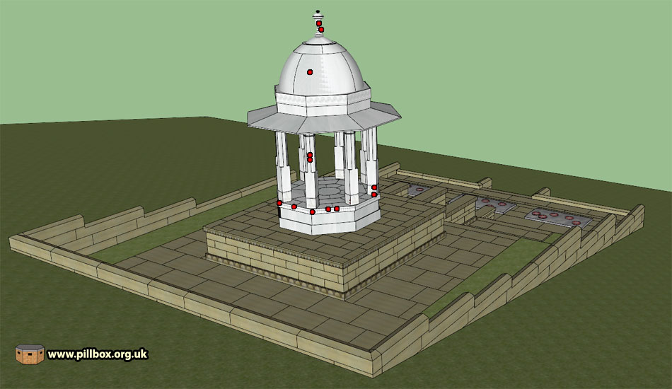 Who shot at the Chattri memorial?