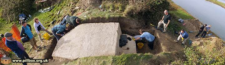 SMHS excavating a pillbox at Cuckmere Haven